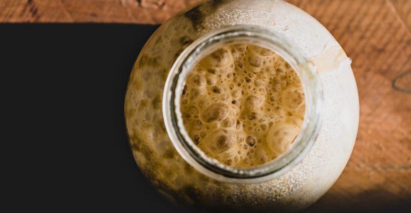Sorbitan monostearate in dry yeast